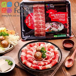 ORI FOOD - Combo Lẩu Bulgogi Ba Chỉ Bò Mỹ hộp 1100gr + Hotpot Nạm Bò Mỹ 300gr