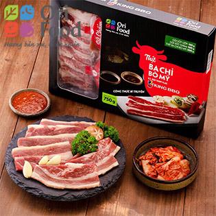 Ori Food Combo King BBQ Ba chỉ bò Mỹ 750gr