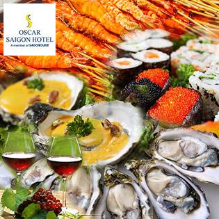 Buffet Tối T6, 7 & CN Hải Sản, Nướng & Lẩu - Free Rượu Vang Tại Oscar Saigon Hotel 4* - Phố Đi Bộ Nguyễn Huệ Đẹp Nhất VN