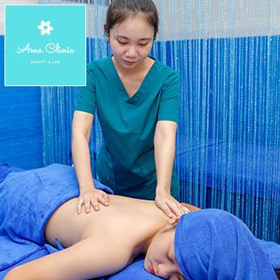 Chăm Sóc Da Mặt Chuyên Sâu + Tẩy Tế Bào Chết + Đắp Mặt Nạ Collagen Tươi/ Massage Body + Tinh Dầu + Đá Nóng Thư Giãn Thoải Mái, Giảm Đau Nhức Mệt Mỏi Tại Ama Spa