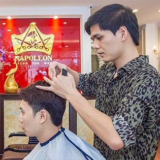 Cắt-Gội-Vuốt Gel Tạo Kiểu - Chỉ Có Tại Napoleon Hair Spa - Đẳng Cấp Tóc Nam (Tặng Đánh Giày Và Đồ Uống)