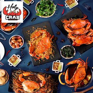 Hệ Thống Holy Crab - Set Menu Cua Chuẩn Vị Singapore Dành Cho 2 - 4 Người