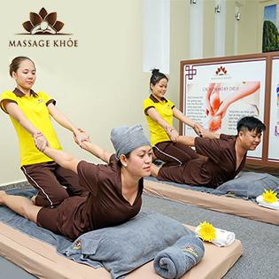 (120') Massage Body Nhật + Thái + Đài Loan (75') + Steambath + Sauna + Ngâm Chân + Đắp Mắt + Nằm Gối Nóng Thảo Dược (45') - MASSAGE KHỎE