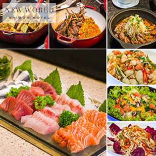New World Saigon Hotel 5 Sao - Buffet Trưa Cao Cấp Tại Nhà Hàng Parkview - Bao Gồm Nước