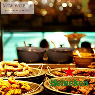 Áp Dụng Lễ - New World Hotel 5 Sao - Buffet Nướng Tại Hồ Bơi - Uống Thỏa Thích Bia Tươi