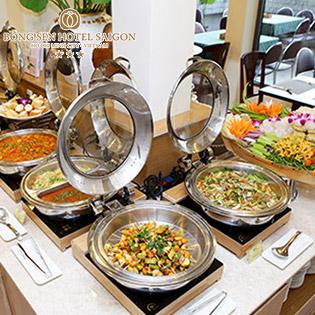 Buffet Chay Buổi Tối 40 Món Miễn Phí Nước Uống Tại Nhà Hàng Cỏ Nội - Bông Sen Hotel Annex