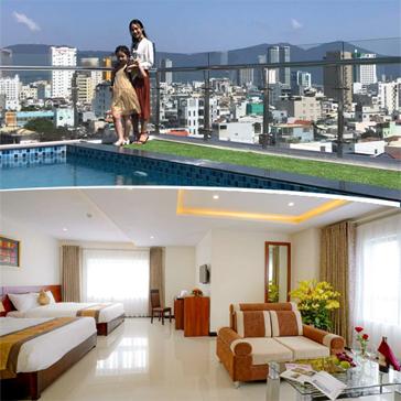 Khách Sạn Quốc Cường Center Đà Nẵng Tiêu Chuẩn 4 Sao - Nghỉ Dưỡng 2N1Đ Cho 2 Người