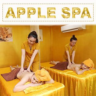 1 Trong 3 Set Dịch Vụ Massage Body Đá Nóng Phục Hồi Năng Lượng/ Chăm Sóc Da Chuyên Sâu/ Gội Đầu Thảo Dược - Apple Spa
