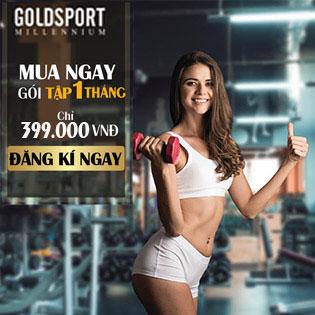 Hệ Thống GoldSport Millennium 04 CN - Trọn Gói 01 Tháng Tập Luyện Đẳng Cấp Full Dịch Vụ - Tặng 02 Buổi PT Trị Giá 1tr6