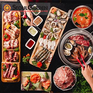 Seoul Garden Buffet Sang Chảnh Nướng - Lẩu - Sushi - Sashimi - Thương Hiệu Quốc Tế Từ Năm 1983