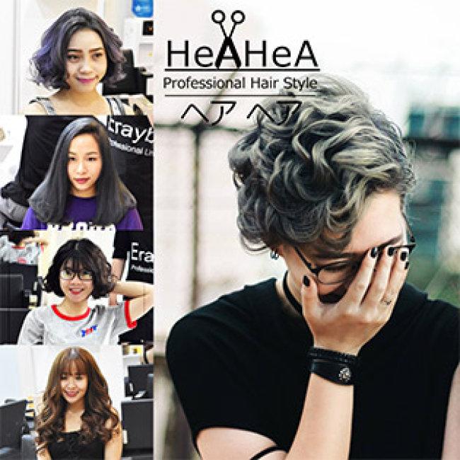 Hea Hea Professional Hair Style - Trọn Gói Làm Tóc Cao Cấp Uốn/ Duỗi/ Nhuộm/ Bấm + Cắt + Gội + Sấy Tạo Kiểu