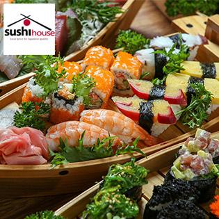 Thuyền Sashimi, Sushi 12 Món Dành Cho 02 Người - Sushi House