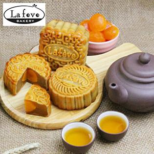 Lafeve Bakery - Hộp 4 Bánh Trung Thu 160gr - Hệ Thống 5 Chi Nhánh