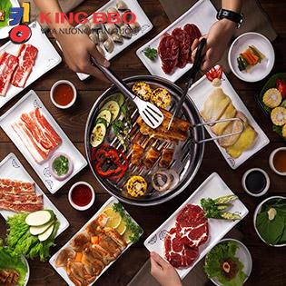 King BBQ Buffet Nướng Chuẩn Vị Ngon - Menu 362.000 CN Hoàng Hoa Thám
