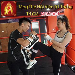 Akickfit Vé Tập Trải Nghiệm 06 Buổi Kickfit Muay Thai Cùng Với Huấn Luyện Viên - Tặng Kèm 01 Tháng Thẻ Hội Viên Trị Giá 500.000Đ
