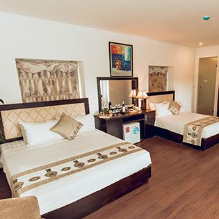 Domov Luxury Hotel Hà Nội 3* - Phòng Deluxe Family 2n1Đ Cho 04 Khách - Miễn Phí Ăn Sáng Buffet Tại Tầng 7