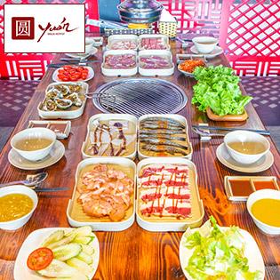 Buffet Nướng Lẩu Ăn Không Giới Hạn - Free Coca - Buffet Yuán BBQ & Hotpot