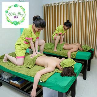 Miễn Tip - (100') Massage Body + Foot + Ngâm Chân + Chăm Sóc Da Mặt + Đắp Mặt Nạ/ Điều Trị Mụn, Thâm/ Tắm Trắng - Cỏ May Spa