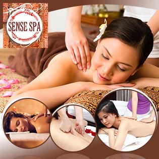 Tận Hưởng (120 Phút) Massage Thư Giãn Đá Nóng + Gội Đầu + Bấm Huyệt Tại Sense Spa