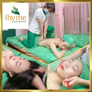 Buffet Spa 90 Phút Trị Mụn/ Hút Chì/ Chạy C, Tế Bào Gốc/ Massage Body, Foot/ Thanh Tẩy Body Tại Thyme Beauty Clinic Sài Gòn