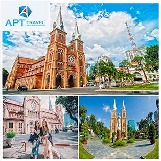 Tour Sài Gòn City Tour 1 Ngày - Dinh Độc Lập - Nhà Thờ Đức Bà - Bưu Điện Thành Phố - Chợ Bến Thành - Khởi Hành Hàng Ngày - Không Phụ Thu Cuối Tuần