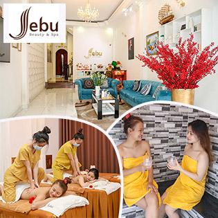 (100') Massage Body + Xông Hơi + Ngâm Chân + Đắp Mặt Nạ/ Triệt Lông - Hệ Thống Jebu Beauty & Spa 5*