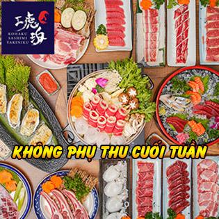 Top Buffet Nhật Hơn 120 Món Lẩu, Nướng, Hải Sản Ngon Nhất - Tại Kohaku Sashimi & Yakiniku Buffet