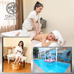 Beryl Spa & Wellness 5* - Massage Body Cao Cấp (Aromatherapy) + Bơi Không Giới Hạn + Ngâm Chân