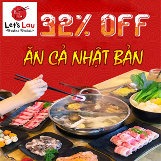 Buffet Lẩu Nhật Không Giới Hạn Hải Sản, Bò Mỹ - Let's Lau