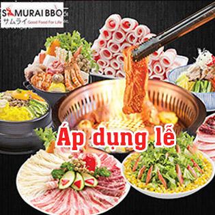 Buffet Tối Samurai BBQ - Gần 70 Món BBQ & Lẩu Bò Mỹ, Hải Sản & Sushi – Tặng Buffet Kem