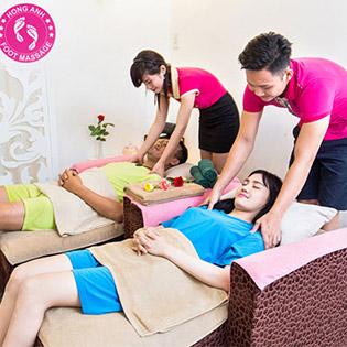 Gói Couple: (90') Massage Body + Massage Foot + Ngâm Chân + Đắp Mặt Nạ Cho Cặp Đôi (02 Người) - Hồng Anh Foot Massage
