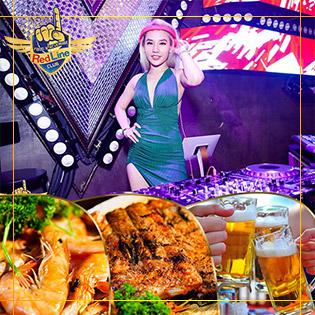 Buffet Beer Club Sang Trọng 20 Món Á Âu, Buffet Bia, Nước Ngọt Không Giới Hạn Tại Redline Club – Không Phụ Thu Cuối Tuần