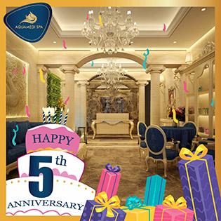 Aquamedi Spa Tri Ân Khách Hàng Mừng Sinh Nhật 05 Tuổi