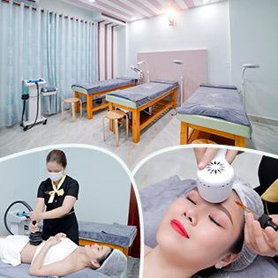 Miễn Tip (120') Massage Body + Foot + Xông Hơi + Chạy Vitamin C + Đắp Mặt Nạ + Quấn Nóng Tan Mỡ Bụng - Hệ Thống Thẩm Mỹ Wonhee Korea