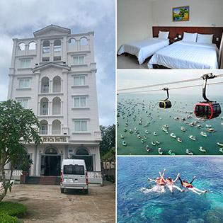 Combo Gold Beach Hotel Phú Quốc 3N2D Phòng Standard + Buffet Sáng + Cáp Treo Hòn Thơm, Cano 5 Đảo Dành Cho 2 Người – Không Phụ Thu Cuối Tuần