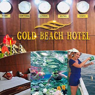Combo Gold Beach Hotel Phú Quốc 3N2Đ Phòng Standard + Buffet Sáng + Tour Câu Cá Lặn Ngắm San Hô Phía Nam Dành Cho 2 Người – Không Phụ Thu Cuối Tuần