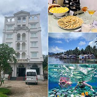 Combo Gold Beach Hotel Phú Quốc 3N2Đ Phòng Standard + Buffet Sáng + Tour Khám Phá 2 Đảo Dành Cho 2 Người – Không Phụ Thu Cuối Tuần