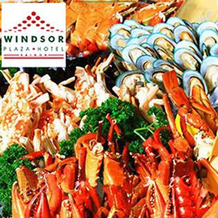 Windsor Plaza Hotel – Buffet 5* Trưa Thứ 7, Chủ Nhật Hải Sản Cao Cấp - Free Bia Nước Ngọt & Rượu Vang Nổ