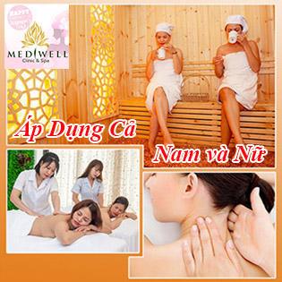 Massage Body Tái Tạo Năng Lượng 5* Miễn Phí Xông Hơi Đá Muối Tại Mediwell Academy And Spa