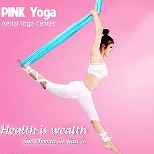 Trọn Gói 1 Tháng Tập Yoga Dây Bay Lượn Thư Giãn Trên Không - Không Giới Hạn Tại Pink Yoga