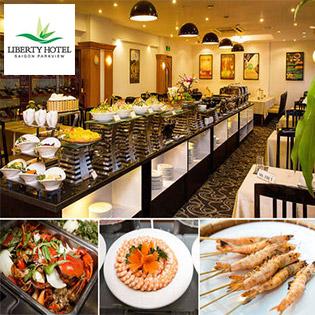 Áp Dụng Lễ Buffet Tối 70 Món Hải Sản Nướng, Miễn Phí Nước Uống Tại Liberty Saigon Parkview Hotel