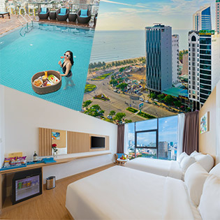 Khách Sạn Gold 3 Đà Nẵng 2N1Đ Gần Biển Ăn Sáng Buffet - Cho 02 Khách