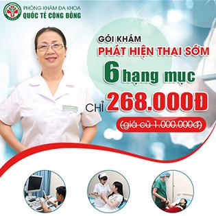 Gói Phát Hiện Thai Sớm Với 6 Hạng Mục - Phòng Khám Đa Khoa Quốc Tế Cộng Đồng 193C1 Bà Triệu