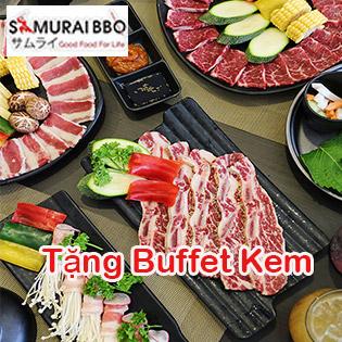 Ưu Đãi Hot - Buffet Trưa Samurai BBQ Bò Mỹ, Hải Sản & Sushi