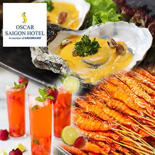 Buffet Trưa Hải Sản Sang Trọng Tại Oscar Saigon Hotel 4* - Phố Đi Bộ Nguyễn Huệ Đẹp Nhất Việt Nam
