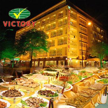 Buffet Tối Hơn 50 Món Đặc Sắc Tại Khách Sạn Victory 3 Sao - Bao Gồm Nước Uống
