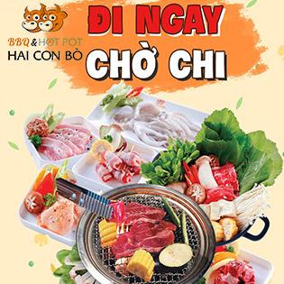 Hệ Thống Hai Con Bò - Buffet Nướng & Lẩu Hải Sản, Bò Mỹ Cao Cấp Menu 269K - Free Tráng Miệng + Kem Fanny