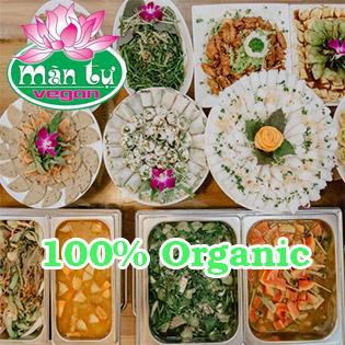 Buffet Chay 100% Organic 60 Món Vào Mùng 1, 14, Rằm & 30 Hàng Tháng Tại Hệ Thống Mãn Tự Vegan