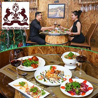 Set Menu Lãng Mạn Đẳng Cấp 5* Dành Cho 2 Người Tại Hầm Rượu The Aumy Wine Cellar