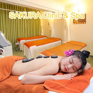 Buffet Massage 60' Điều Trị Thư Giãn + Buffet Nước Ép, Bánh Ngọt Tại Sakura Clinic & Spa